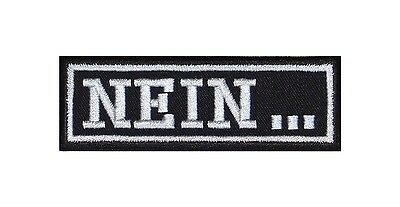 NEIN Biker Patches Aufnäher Outlaw Widerstand No Fear Mercy Bad Boy Girl Punk V2