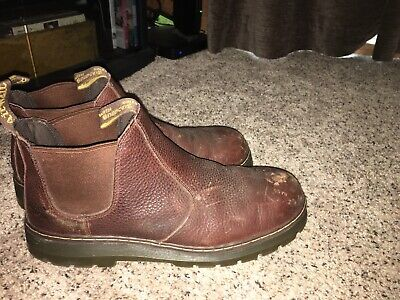 d6ae43ca8f4bf6 MARTENS Steel Toe Pull On Boots Mens 14 M Brown Industrial Work Boot