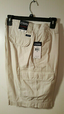 50134c16e2 NEW CHAPS COTTON Ripstop Mens Gray Cargo Shorts Size 50 X 10 - GGG6 ...