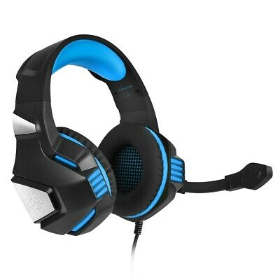 Hunterspider V - 3 3.5mm Headsets Bass Gaming Headphones with Mic LED Light for