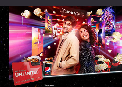 2x Cineworld Unlimited 12 Months Pass Excl West End - [ Renewal / New Member ]