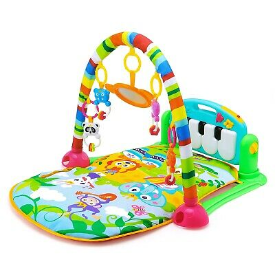 HE0603 Baby Piano Fitness Mat Newborn Educational Toy with Light / Music / 4