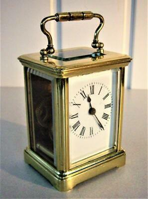 Antique French Miniature Carriage Clock - Working Well