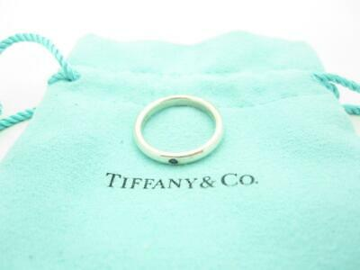 2389dbb05 Tiffany & Co. Sterling Silver Elsa Peretti Blue Sapphire Stacking Ring Size  6