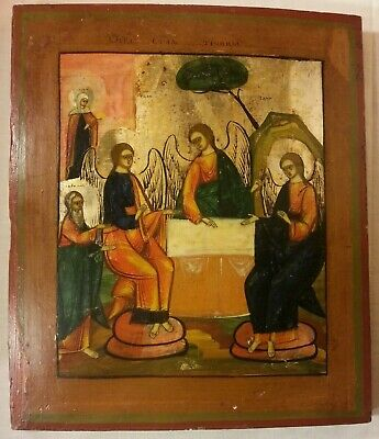 Russian Orthodox Icon Of Holly Trinity Old Testament Christianity