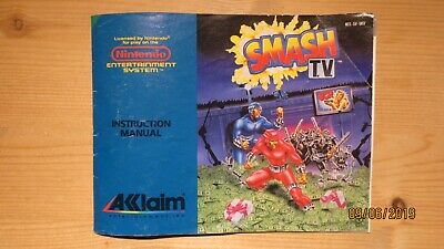 Smash TV NES Instruction Manual Booklet