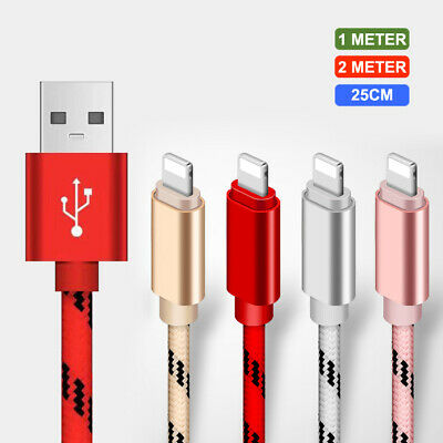 Long Braided USB For iPhone 6s 7 8 6 5s X Fast Charger Data Charging Cable