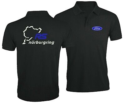 Nurburgring Ford RS Auto Fan Car Sport Racing Club Embroidered Man Polo Shirt