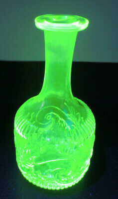 Val Saint Lambert VASELINE GLASS WIne Liqueur Carafe Decanter