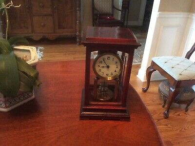 Gustav Becker 400 Day Anniversary clock Wood Case Beveled Glass 1900's