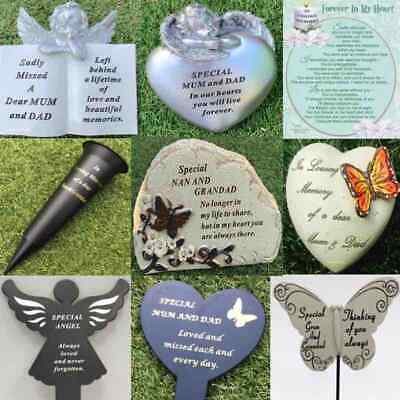 Dad Mum Grandad Nan Memorial Plaque Stake Vase Ornament Grave Remembrance Item