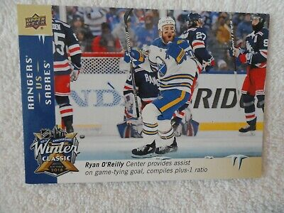 201819 Upper Deck JUMBO Winter Classic Ryan O`Reilly Buffalo Sabres WC-6 Rangers
