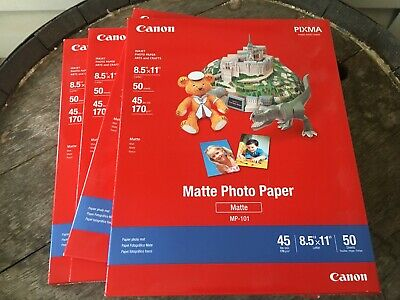 4 Packs Canon PIXMA Matte Photo Paper 8.5 x 11 Inches 50 Sheets MP101 NEW