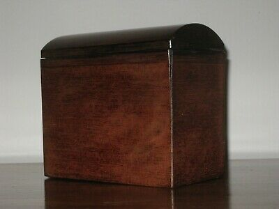 Antique Mahogany Tea Caddy - Domed with single compartment