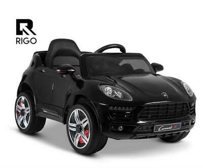 Rigo Kid Ride On Car Battery Electric Toy Remote 12V Black Cars Children Gift