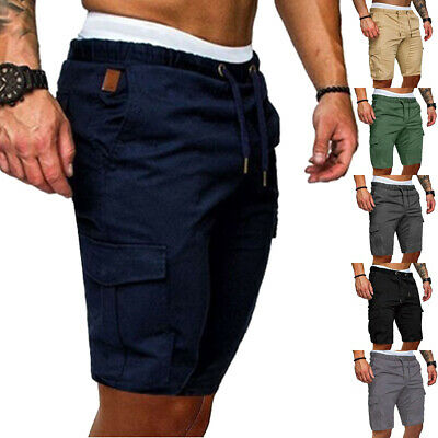 CA Stylish Men Cargo Work Shorts Elasticated Summer Casual Combat Pants Trousers