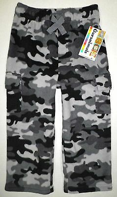 2b8128fe4 Garanimals Toddler Boys Micro Fleece Cargo Sweat Pants BLACK CAMO Gray Sz  3T NWT