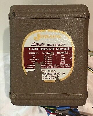 Jensen A-2440 Crossover Network Rare 4 Way 16 Ohm