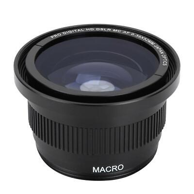52MM 0.35x Fisheye Wide Angle Lens with Macro for Nikon DSLR D5200 D7100 D3300