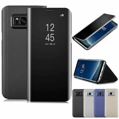 Slim Cover Luxury Mirror Flip Holder Stand Case for Samsung S8 Plus A5 A7 J7 J3