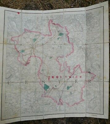 Lieut Colonel Colby Bourne Baker Map 1832 Tower London OS Droitwich Stanford