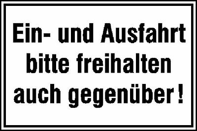 Notice Sign » and Exit Please Keep Clear Also against!« S10170