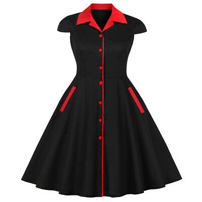 1950S 60S ROCKABILLY DRESS Cotton Style Swing Pinup Retro Housewife Prom Party