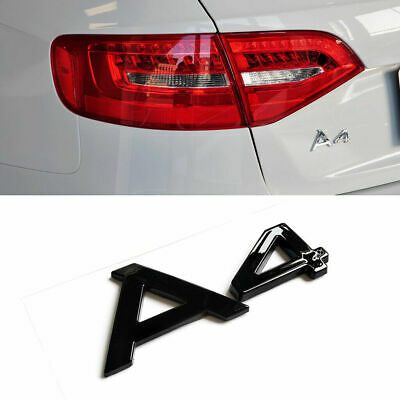 "Gloss Black Logo Emblem ""A4"" Rear Trunk Letters Badge Decal Sticker Fits AUDI A4"
