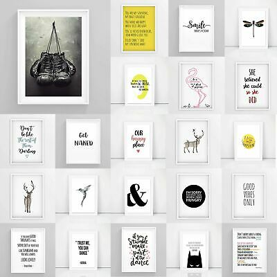 Inspirational Prints, Motivational Posters, Funny Wall Art Quotes A1/A2/A3/A4/A5