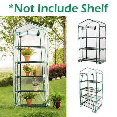 3 4 5 Tier Plastic Garden Mini Greenhouse Walk In Grow Bag Replacement PVC Cover