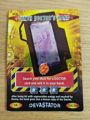 Dr Doctor Who Battles In Time Super Rare Card SR 959 Tenth Doctor's Hand