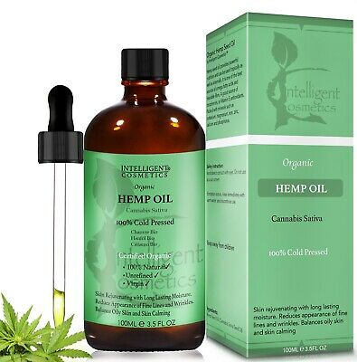 HEMP SEED OIL 100% Cold Pressed Unrefined, Organic, Pure & Natural 100ml NEW