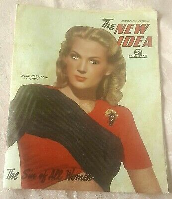 1940's Vintage New Idea Australian Womens Magazine, October,31 1945