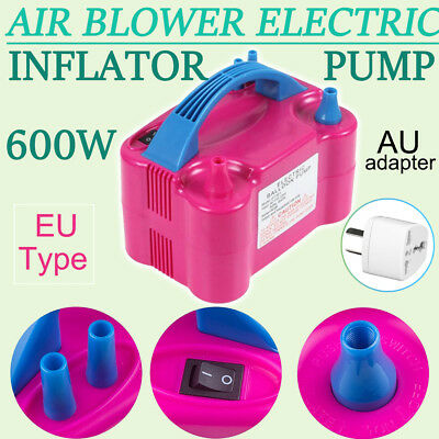 Portable 600W High Power Two Nozzle Air Blower Electric Balloon Inflator Pump lu
