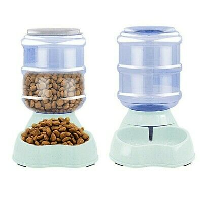 Large Auto Pet Dog Cat Food Waterer Dish Bowl Feeder Dispenser Water Bowl 3.8 L
