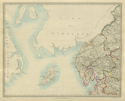 NORTH WEST ENGLAND. Lake District Isle of Man Cumbria Westmorland. SDUK 1874 map