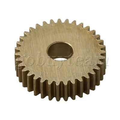 Cylinder Type 35 Teeth Brass Motor Copper Gear 0.5Module 19mm Tip Circle