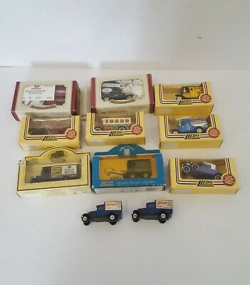 Job Lot 11 Die Cast Vintage Vehicles incl Lledo, Co op, Kellogg's most boxed