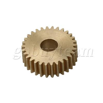 Cylinder Type 30 Teeth Brass Motor Copper Gear 0.5Module 16mm Tip Circle