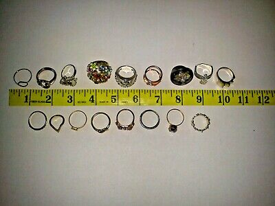 Job Lot Jewellery Rings Mixed Lot Vintage and Later All Wearable