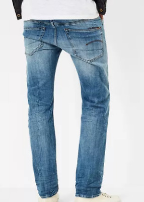 e39107b6f4d GStar Raw 3301 Straight Aiden Stretch Denim Light Aged Men's Size 36W 34L  *REF51