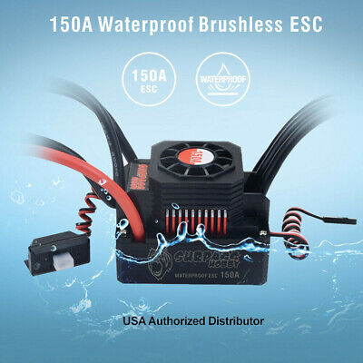 150A WATERPROOF BRUSHLESS ESC Speed Controller For 1/8 RC Car Buggy