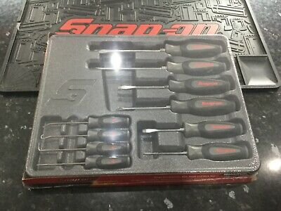 ******SNAP ON GREY/BLK 10PC SCREWDRIVER And HOOK & PICK SET SGDX60204CDT******