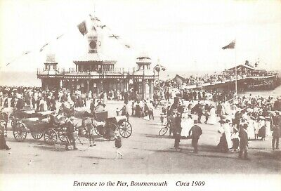 Reproduction c1909 Postcard, Entrance to the Pier, Bournemouth, Dorset 96T