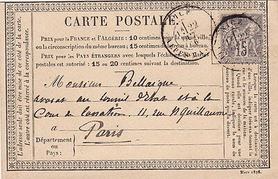 Lettre France Sage Nice Alpes Maritimes Cover Brief