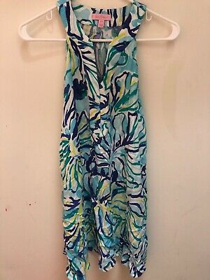 c278bfe50913 Lilly Pulitzer Achelle Sleeveless Swing Dress, Pool Blue Stay Cool, Size XXS