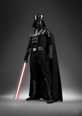 Star Wars Darth Vader Movie Poster Art Print Black & White Card or Canvas
