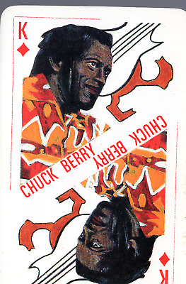 CHUCK BERRY CARTE à jouer ROI DE CARREAU lowîze rock and roll 80's  France