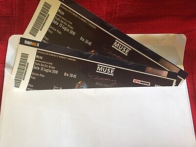 2 TICKET MUSE concert (Milano, San Siro) GREEN - FRONT STAGE 13/07/2019