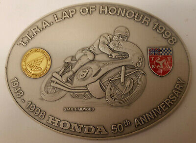 TTRA Lap of Honour 1998 Mike Hailwood S.M.B. auf Honda Plakette